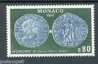 MONACO 1976 timbre 1069 HONORE' II; MONNAIES, neuf**, VF MNH STAMP