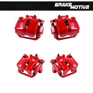 For 2003 2004 2005 FX35 FX45 Front + Rear Red Powder Coated Brake Calipers