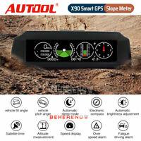 Car GPS Slope Speed Alarm Inclinometer Pitch Tilt Angle Indicator MPH/h KM/h 12V