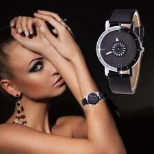 Luxury Women Watch Bling Bracelet Crystal Dial Wrist Watch Quartz Analog Leather