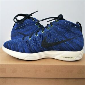 Size UK 6 US 6.5 Trainers NIKE LUNAR FLYKNIT CHUKKA Royal Blue Sneakers Shoes