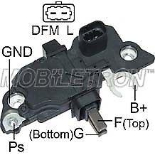 12V Bosch Type Alternator Voltage Regulator Brush Box Vauxhall Saab Mob Vr-B160