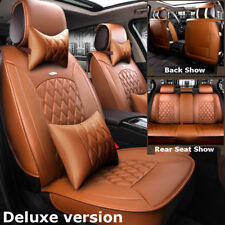 Car Micorfiber Leather Seat Cover Front+Rear For Toyota Camry Prius Corolla RAV4