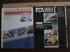 Grand Prix Canada / Media Kit / Official Program / stickers 1988