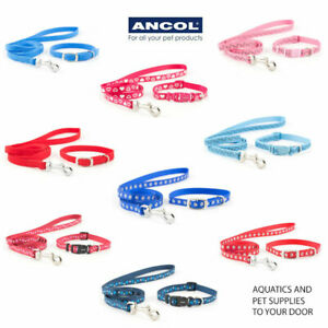 Ancol Puppy Collars- Small Bite Puppy/ Small Dog adjustable Collar and Lead Sets