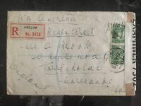 1940 Swatow China Censored Cover to England Airmail via USA