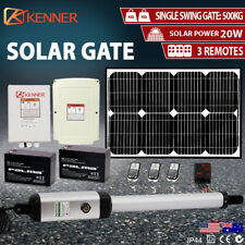 Kenner KNL100E-01-SOL 24 V Full Solar Powered Automatic Swing Gate Opener