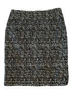 Black & White Knee Length Jigsaw Smart Pencil Skirt UK 10