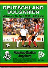 DFB Länderspiel Deutschland - Bulgarien 17.04.85 in Augsburg