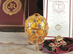 IMPERIAL TREASURES NEW IN BOX Coronation Egg JOAN RIVERS carriage w/pouch COA