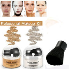 2 Colors Miss Rose Face Makeup Bringten Smooth Loose Powder With Brush Glitter