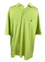 Bobby Jones Men's Short Sleeve Golf Polo Shirt Size Large Neon Green