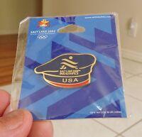 2002 SALT LAKE CITY OLYMPICS Uniform BERET on ORIGINAL CARD & CELLO