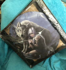 "White Wolf Clock. Condition is New. Standard clock measures 11.5""x 11.5"""