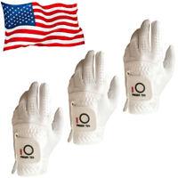 Mens Golf Gloves Large Left Hand S M XL Rain Grip Black White 3 Pack Titleist
