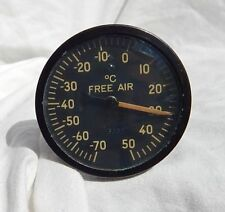 Pilot's US Thermometer Free Air Temperature Gauge Instrument Indicator, WORKS!