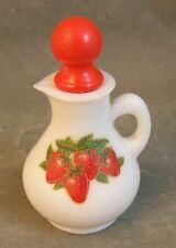 Vintage Avon Milk Glass and Strawberries Small Pitcher