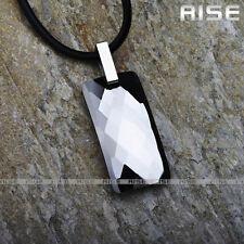 New Gift Mens & Womens Tungsten Carbide Unique silve Pendant shine Necklace D6