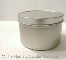 Four Dozen (48) 4 oz. Candle Tins w/ Silver Lids
