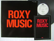 PROMO ONLY / ROXY MUSIC DJ COPY / UNPLAYED W/PROMO BOOKLET