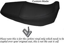 CARBON FIBRE VINYL CUSTOM FITS HONDA XR 125 03-12 DUAL SEAT COVER