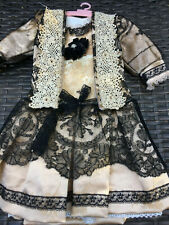 ANTIQUE silk dress for FRENCH doll 5-8Jumeau