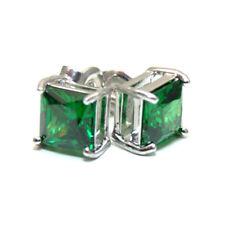 Emerald Princess Cut 2.5ct Diamond-Unique Studs Sterling Silver