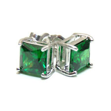Diamond Unique Princess Cut 2 5ct Studs Sterling Silver