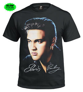New Unisex Elvis Presley Signature T-Shirt/Rock Star/King Of Rock & Roll/LEGEND