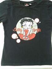 """Maglietta T-Shirt """"Betty Boop"""" Tg. M colore Nero Betty Boop Originale"""
