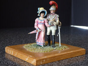 Original Charles Stadden Painted Metal Figures French Carabiner & Lady - ca1960