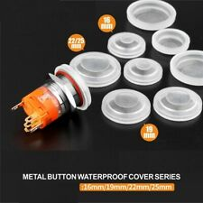 10Pcs 19mm 22mm metal button dust-proof waterproof cover rubber seal protection