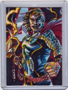 2012 Marvel Greatest Heroes Artist Sketch Card Alberto Silva Thor Avengers 1/1
