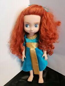 "Disney Store Merida Brave Animator Toddler Doll 16"" Princess Doll Toy"