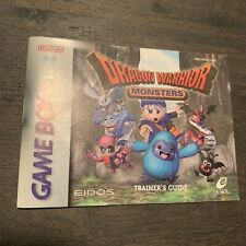 Dragon Warrior Monsters Gameboy Color GBC Instruction Manual Only VG Condition!