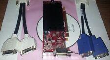 ATI FireMV 2270 512MB Dual DVI VGA LCD Win8 Win10 LP SFF PCI-E Video Card + Cbl