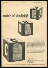 1950 Ami model A B C jukebox photo vintage trade print ad