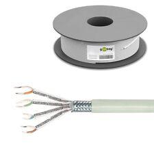 100m 0,26€/m CAT6 Kabel S/FTP PiMF starr Netzwerk Installation Verlegekabel LAN