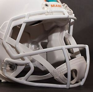 MIAMI DOLPHINS NFL Riddell Speed CU-S2BD-SW Football Helmet Facemask/Faceguard