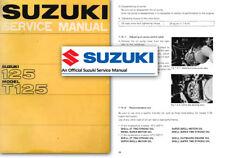 Suzuki 125 T125 STINGER WOLF Workshop Service Shop Factory Manual T