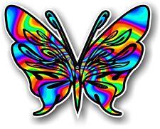 Tribal ButterflyTattoo Style & Psychedelic Hippy Rainbow Motif vinyl car sticker