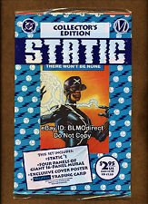 1993 Static #1 1st Appearance DC Sealed Polybag Collector's Ed Jaden Smith Movie