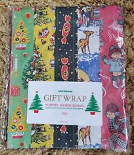 More details for vintage gift wrap wrapping paper christmas 70s / 80s 20 sheets sealed new pack