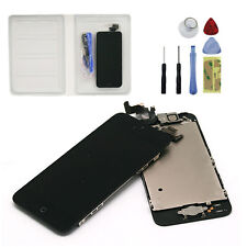 Para iPhone 5 Retina Negro LCD Pantalla Touch Screen + Home Button +Front Camera
