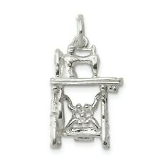 Sterling Silver Sewing Machine Charm New Pendant