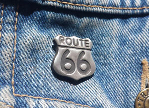 Route 66 Pewter Pin Badge