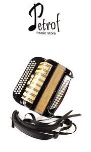 Rare Top Quality German Made Button Chromatic Accordion Hohner Amati IV R+Straps