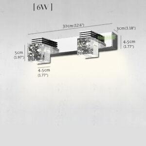 Modern LED Crystal Wall Lamp Mirror Front Lights Wall sconce Bathroom Lighting