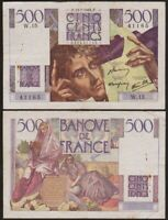 500 FRANCS 1945 FRANCE - Chateaubriand - P129a (W.15)