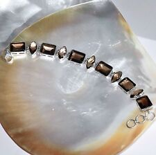 Rauchquarz Armband, 925er Silber, Edelstein Armband (381), Edelsteinschmuck